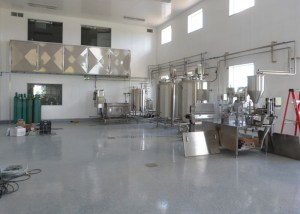 The yogurt processing room.