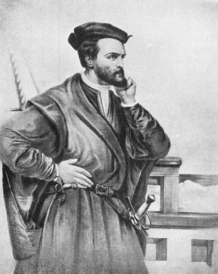 Early Canada Historical Narratives    JACQUES CARTIER Portrait of Jacques Cartier  No one really knows what Cartier looked like   This famous portrait in the Canadian Archives  was executed by Theophile  Hamel in