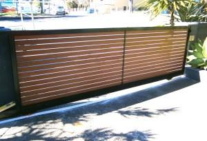 Aluminium Knotwood Sliding Gates Brisbane