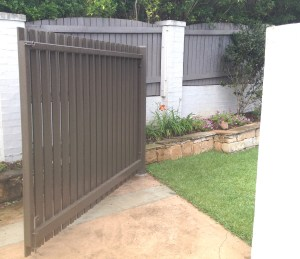 Aluminium Slat gate brisbane south