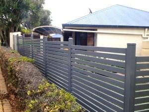 Aluminium Slatted fencing logan