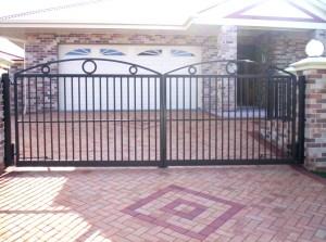 aluminium gates circles