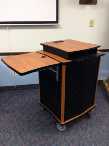 small multimedia lectern