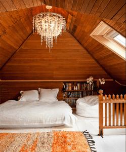 Wood panelled loft