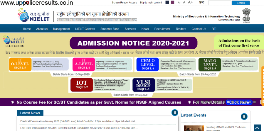 NIELIT Delhi Recruitment 2021 Apply now for 125 Posts Assistant Programmer 'B' ANd Ohter posts