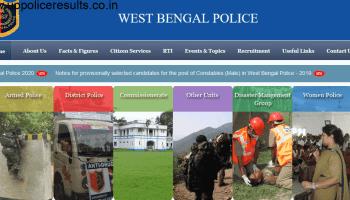 West Bengal Policerecruitmenr 2021