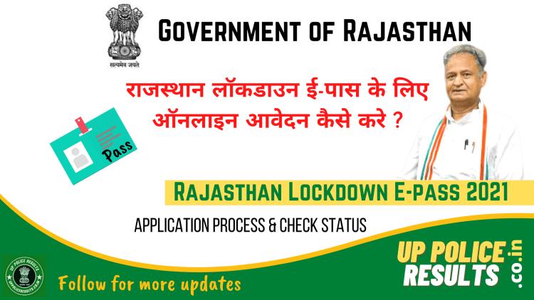 Rajasthan Lockdown E-pass