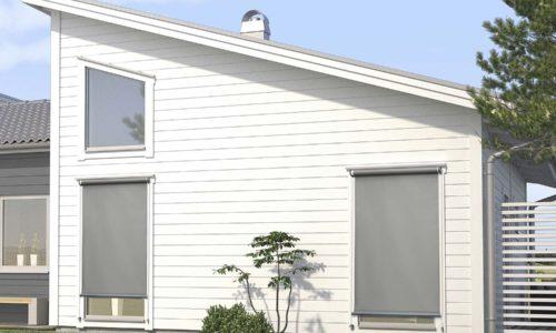 Vertikalmarkis som ger effektivt solskydd för alla fönster