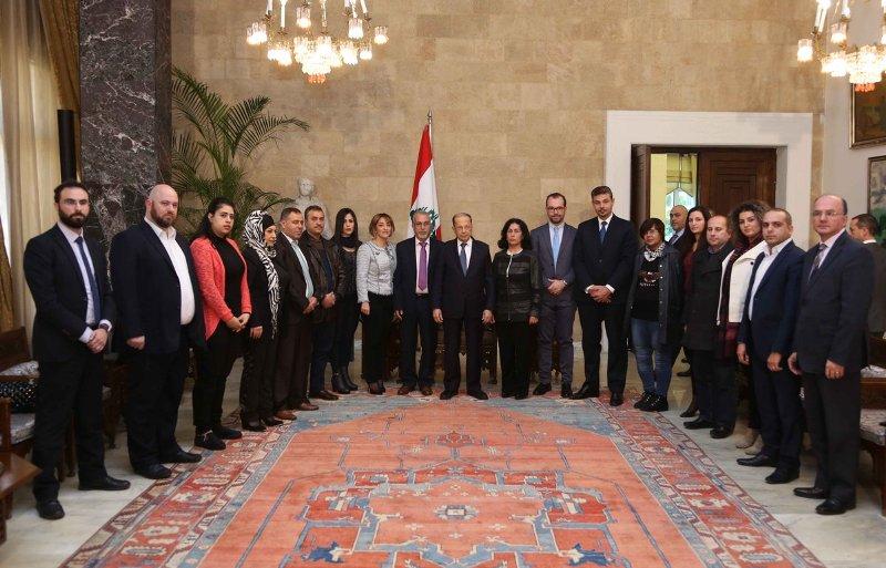 جمعيات حقوق الإنسان تقدم توصياتها الى رئيس الجمهورية اللبنانية