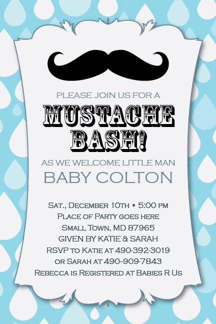 Little Man Mustache Bash Printable 1st