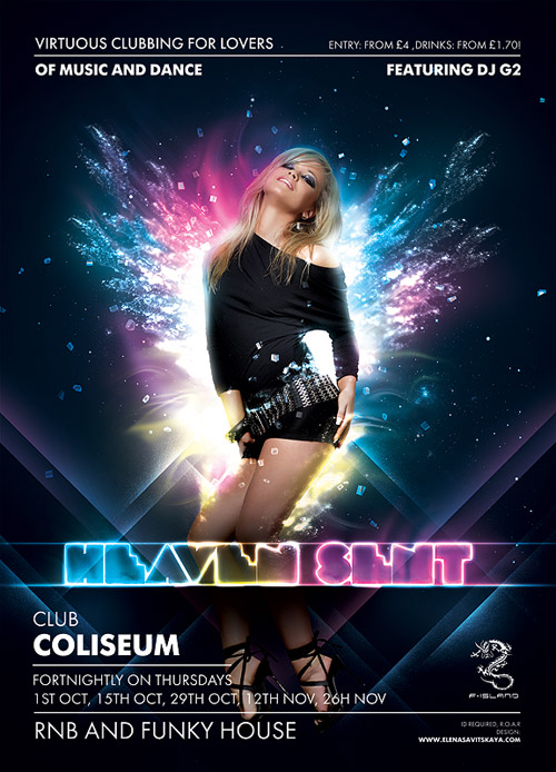 Night Club Flyer - Virtuous Music and Dance Clubbing