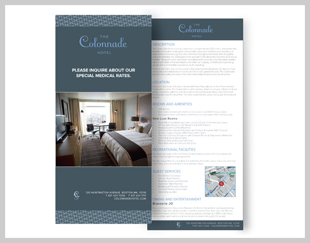 hotel rack cards simple content and