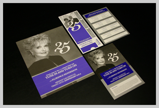 Sample Party Invitations - Midwest Ear Institute 25th Anniversary Gala