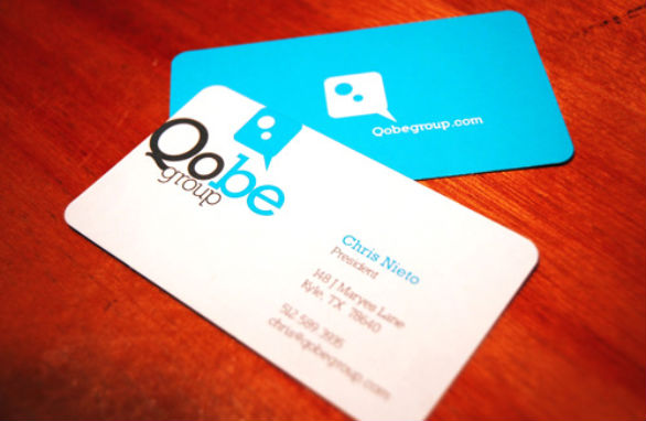 Custom Shaped Business Cards - Qobe