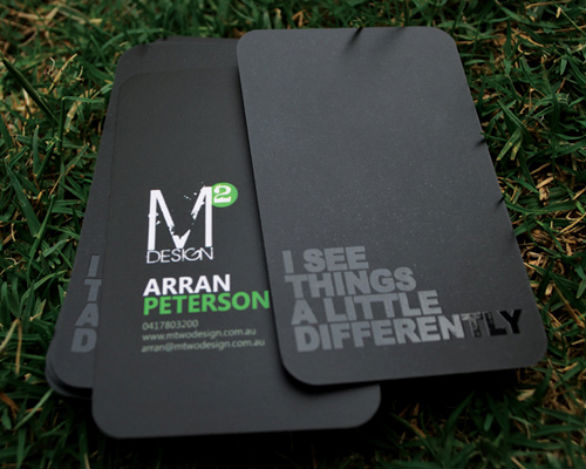 Custom Shaped Business Cards - MTwo