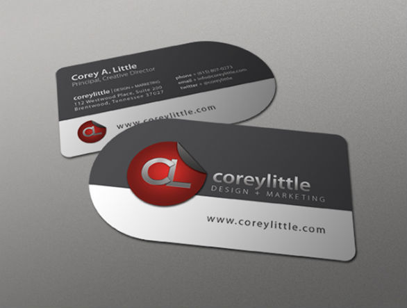 Custom Shaped Business Cards - Corey Little