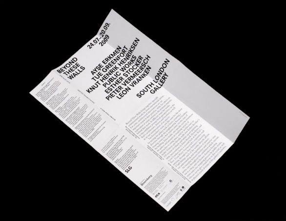 Event Brochure Design Examples - Beyond These Walls