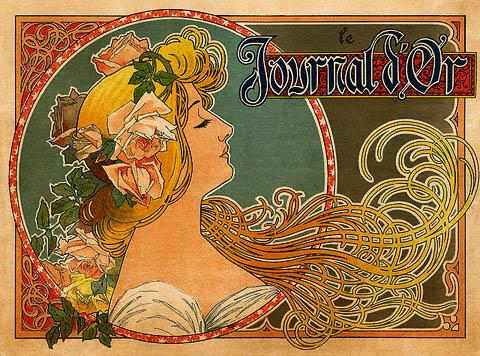 Art Nouveau Poster - tendrils