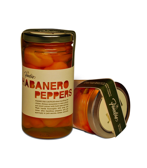 frieda's habanero jar label