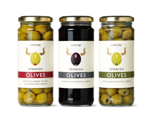 leisure foods olive jar label