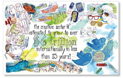 business postcard ideas 08 - business of art design recruitment postcards