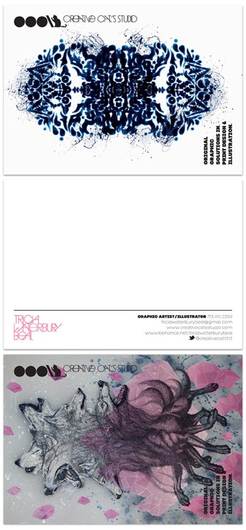business postcard ideas 18 - creative cat's studio