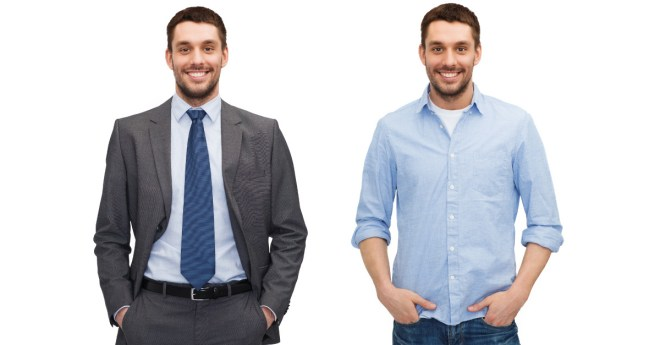 Business clothing vs casual
