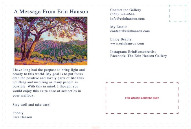 art hanson gallery postcard
