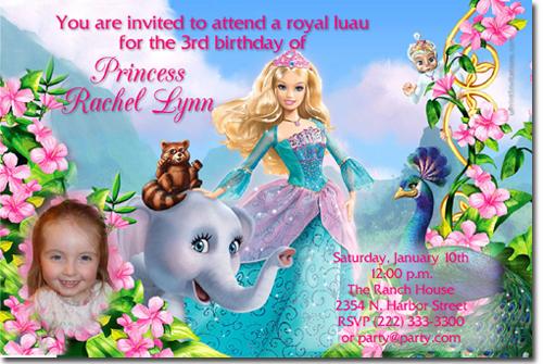 barbie invitation card 7th birthday