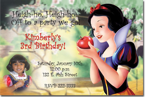 snow white birthday invitations evil