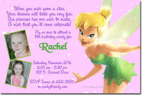 tinkerbell birthday invitations candy