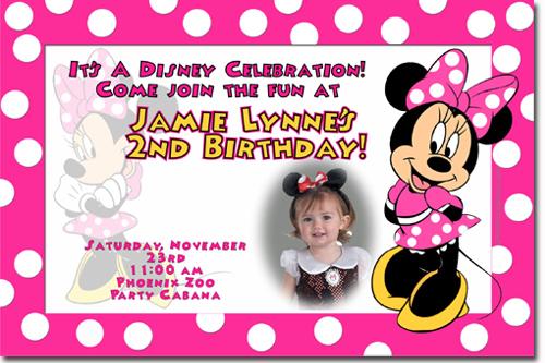 birthday invitation card minnie mouse