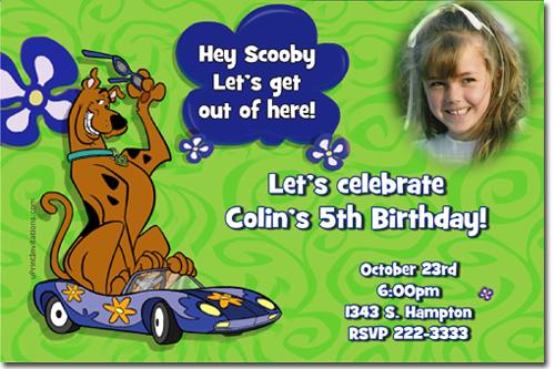 scooby doo birthday invitations candy