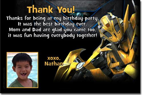 optimus prime birthday invitations