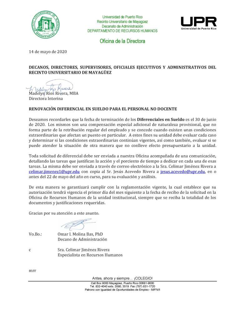 renovacion diferenciales en sueldo 1 julio 2020