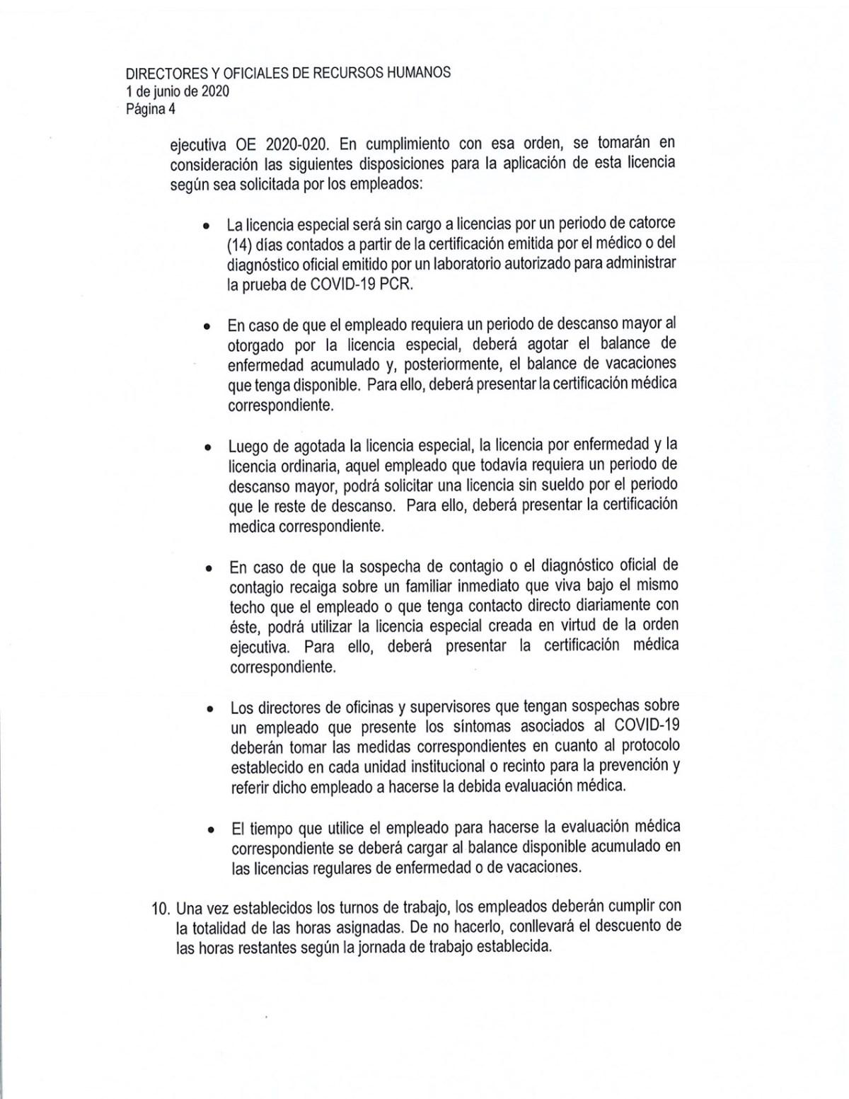 circular adm central reinicio labores presenciales UPR-4
