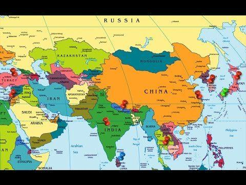 Asia Continent countries & Capitals, Currency with Code
