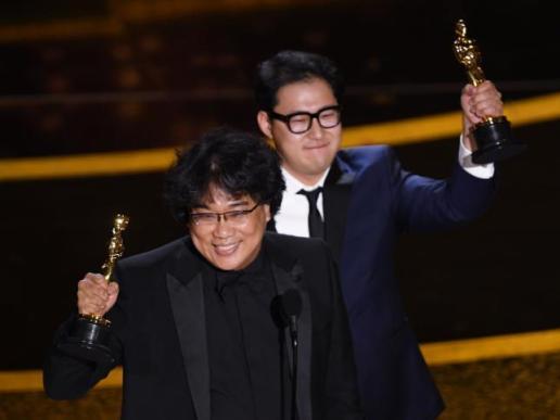 Bong Joon Ho and Han Jin Won for 'Parasite