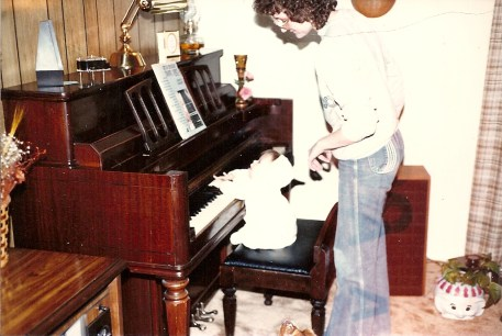 Introducing baby Leah to the piano0001