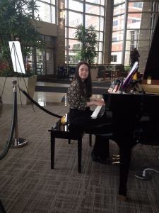 Here I am volunteering and performing for people at the hospital
