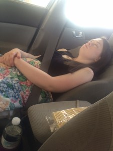 "This was when I was on a road trip with Leah, and she requested ""relaxing opera classical music"" for her nap."