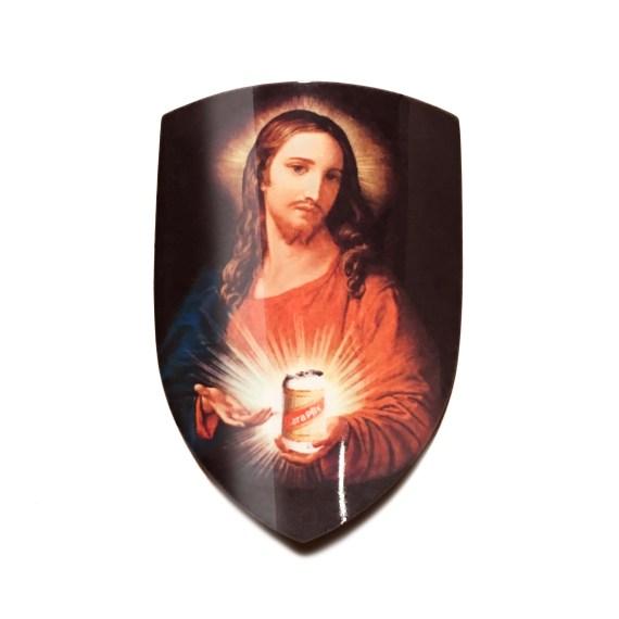 Jesus Loves Cara Headbadge