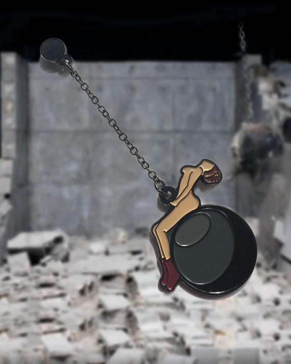 Miley Cyrus Wrecking Ball Pin