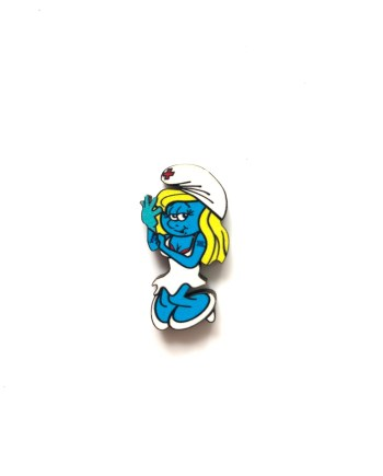 Enema Smurf Pin