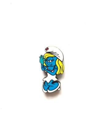 Enema Smurf Pin