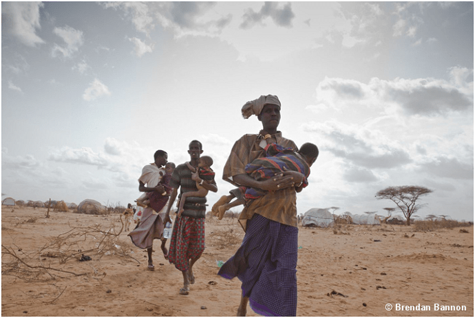 Somali refugees in Dabaab, Kenya.