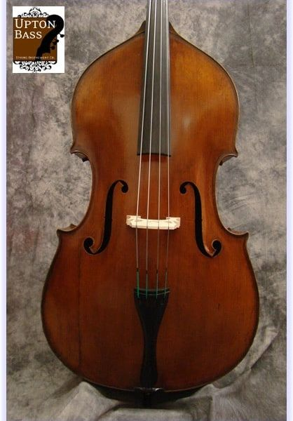 "SOLD! 1930's  German Made Fully Carved Double Bass Labeled ""Enrico Robella, Milano 1930"""