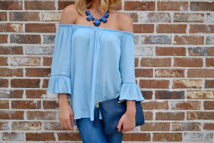 Summer trend: Off the shoulder top