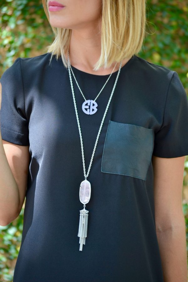Layered necklace look