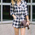How to style a Gingham romper for the Fall
